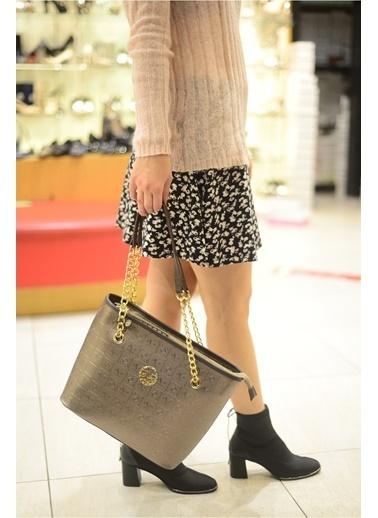 Versace 16V69 Italia 5403 Platın Kadın Omuz Çanta Gri